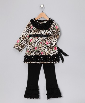 Black Zara Tunic & Pants - Toddler & Girls