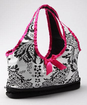 Black & White Damask Doll Carrier