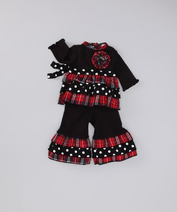 Black Plaid Jolly Doll Outfit