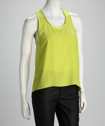 Anna Catherine Limelight Silk Hi-Low Tank