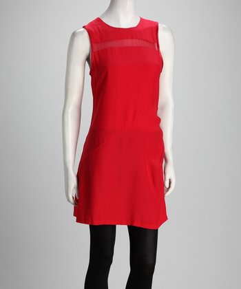 Anna Catherine Electric Red Silk Dress