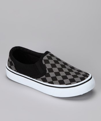 Black & Gray Slip-On Shoe
