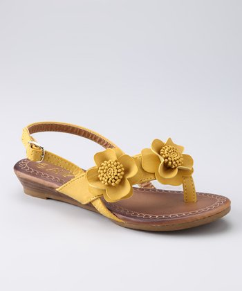 Yellow Flower Leo Sandal