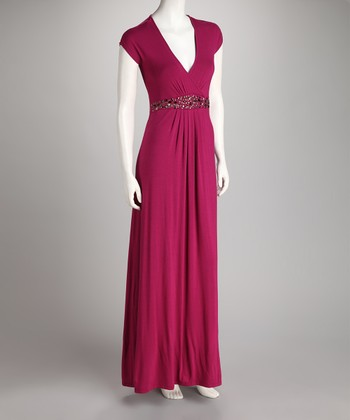 Magenta Bianca Maternity & Nursing Maxi Dress - Women & Plus