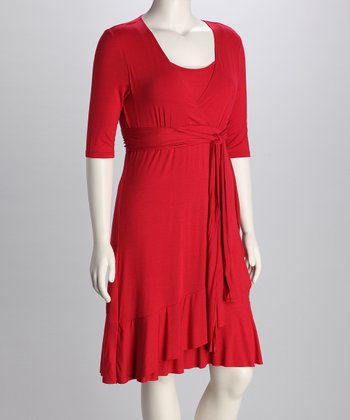 Crimson Evita Maternity & Nursing Dress - Women