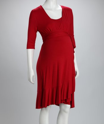 Crimson Evita Maternity & Nursing Dress - Women & Plus