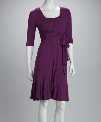 Plum Evita Maternity & Nursing Dress - Women & Plus