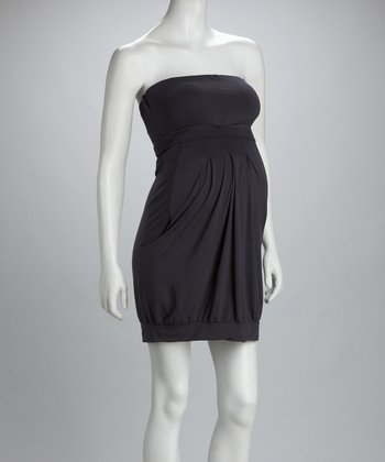 Dark Gray Tabitha Maternity & Nursing Dress
