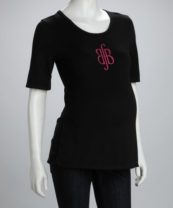 Black Best for Babes Maternity & Nursing Tee - Women & Plus