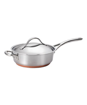 Nouvelle Stainless Steel 3-Qt. Covered Sauté Pan