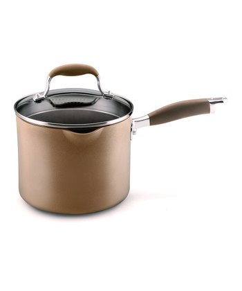 Advanced Bronze Nonstick 3.5-Qt. Straining Saucepan