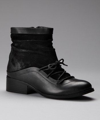 Black Suede Ankle Boot