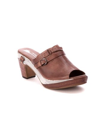 Coffee Peep-Toe Slide