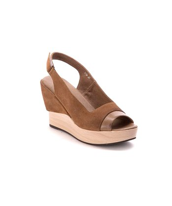 Mocha Slingback Wedge