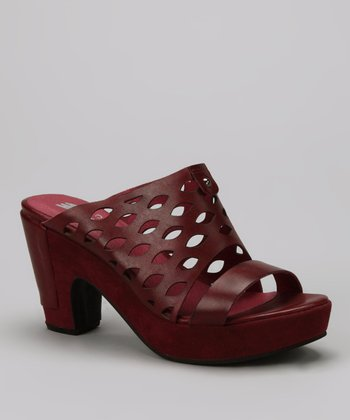 Bordeaux Perforated Clog