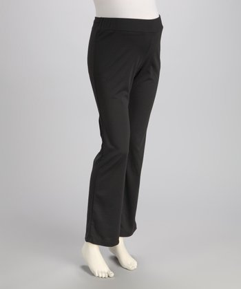 Charcoal Over-Belly Maternity Pants