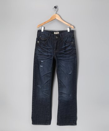 Antique Rivet Blue Fade Jeans - Boys