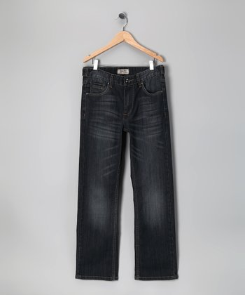 Antique Rivet Dark Blue Magnet Jeans - Boys
