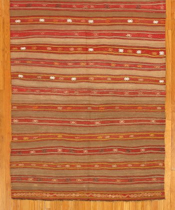 Pastel Block Art Kilim Wool Rug