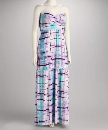 Lavender Water Strapless Maxi Dress