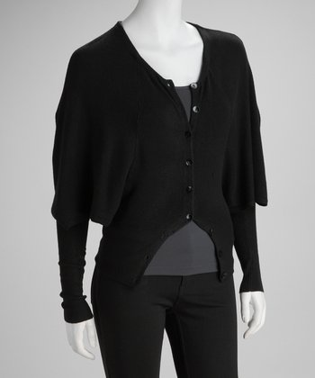 Black Dolman Cardigan