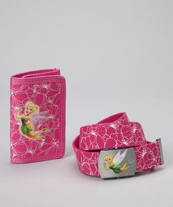 Aquarius Pink Tinker Bell Wallet & Belt