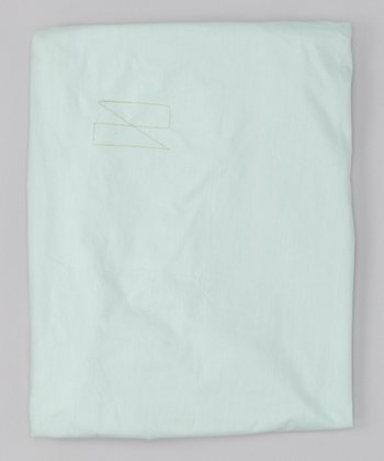 Mist Blue Dia Organic Fitted Crib Sheet