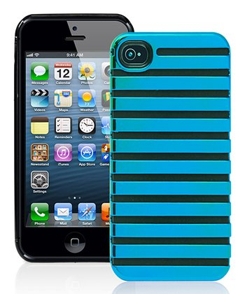Neon Blue Stripe Case for iPhone 5