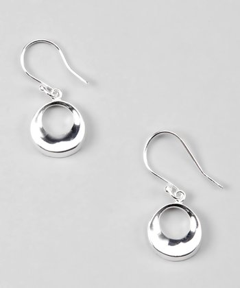 Sterling Silver Small Open Circle Drop Earrings