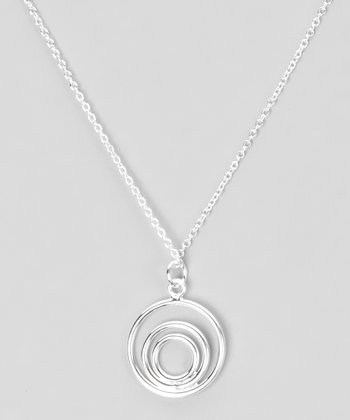 Sterling Silver Bull's-Eye Pendant Necklace