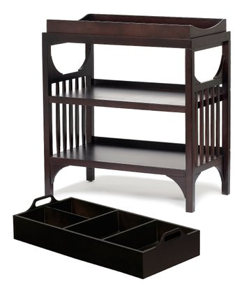 Ebony Bam Changing Table & Diaper Caddy