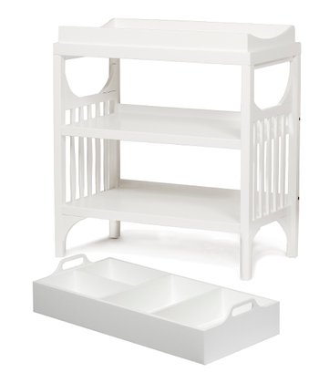 White Bam Changing Table & Diaper Caddy