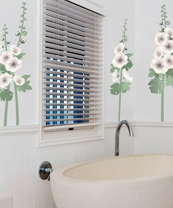 Hollyhocks Wall Decal Set