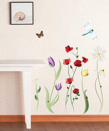 Spring Flowers Wall Decal Set