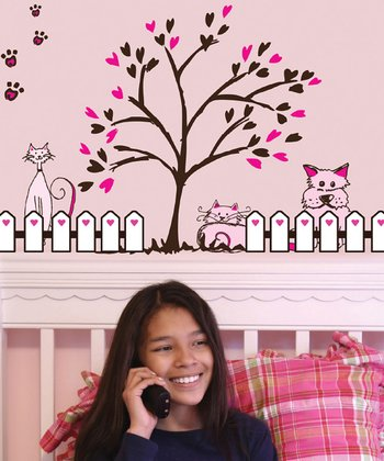 Pink & Brown Pets Wall Decal Set