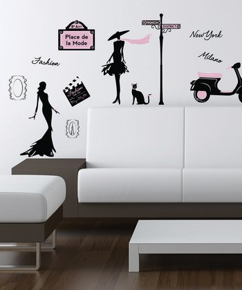 Fashion Street Wall Decal Set