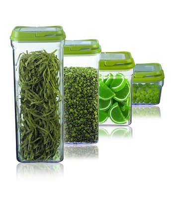 Green Four-Piece Food Storage Container Set