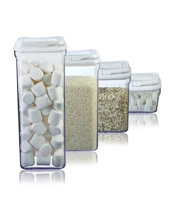 White Four-Piece Food Storage Container Set