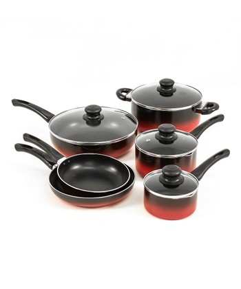 Red Evolution 10-Piece Cookware Set