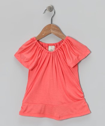 Melon Peasant Top - Toddler & Girls
