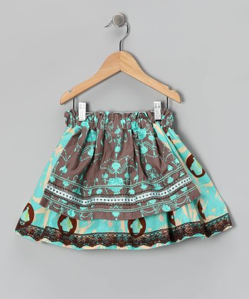 Turquoise Sweet Confection Skirt - Girls