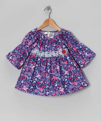 Royal Blue Teachers Pet Peasant Top - Toddler & Girls