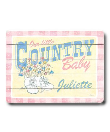 'Country Baby' Personalized Wall Art