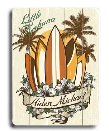 'Little Kahuna' Personalized Plaque