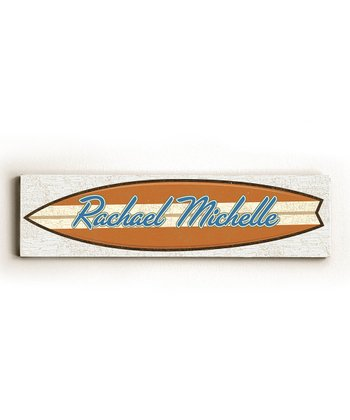 Surfboard Personalized Wall Art