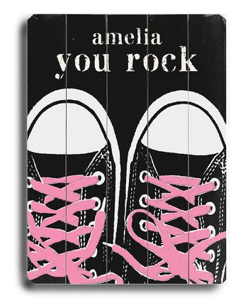 Pink Laces 'You Rock' Personalized Wall Art