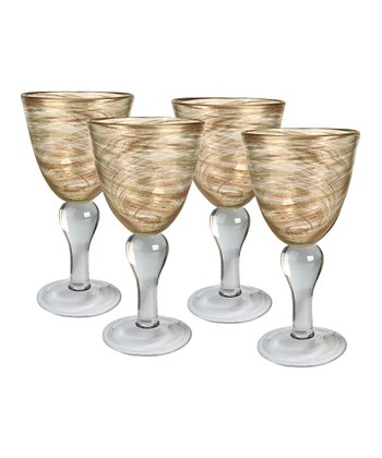 Artland Clear Shimmer Goblet - Set of Four