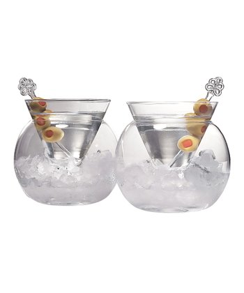 Rockwell 4-Oz. Stemless Martini Glass - Set of Two