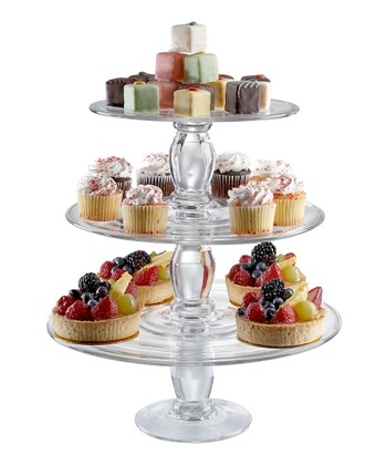 Simplicity Stacking Cake Plate Set