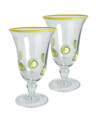 Lemon Footed Tea Glass - Set of Two